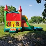 Multicolored bounce house for children in Miami Florida